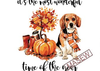 It's the Most Wonderful Time of the Year, Fall Shirts, Dog Mom Shirts, Fall Shirts Women, Cute Fall Shirts, Animal Lovers, Fall Graphic Tees graphic t-shirt design