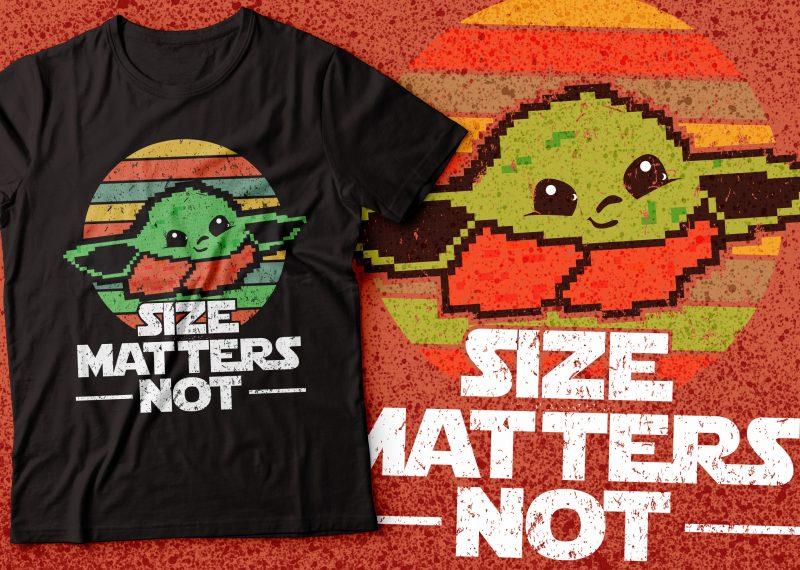 Baby yoda size matters not tshirt design |star war jedi design | yoda design tshirt design for merch by amazon