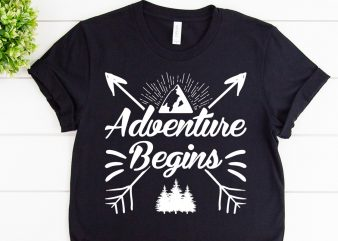 Adventure begins svg design for adventure print