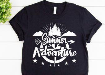Summer adventure svg design for adventure print