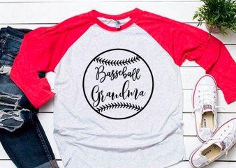 Baseball grandma black svg for baseball tshirt