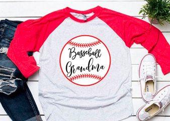 Baseball grandma svg for baseball tshirt