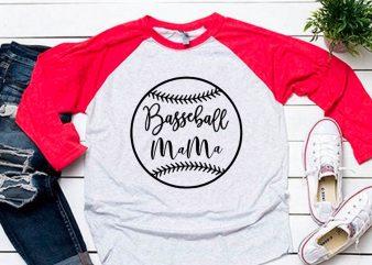 Baseball mama black svg for baseball tshirt