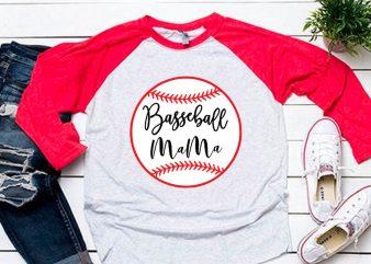 Baseball mama svg for baseball tshirt