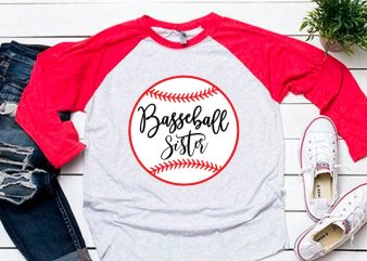 Baseball sister svg for baseball tshirt