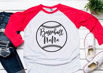 Nana ball black svg for baseball tshirt