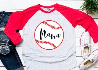 Nana ball svg for baseball tshirt