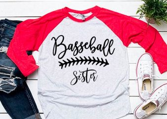 Sister clipart svg for baseball tshirt