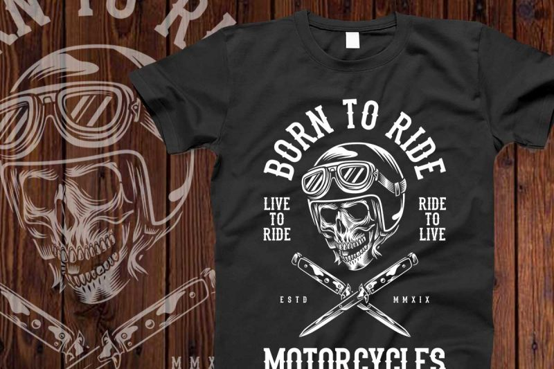 Bundle Skull Bikers vector designs 50%OFF t shirt design for merch teespring and printful