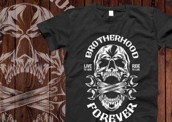 Brotherhood forever t-shirt design