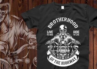 Brotherhood of the highway t-shirt design