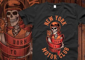 New york motor t-shirt design