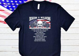 Bikers and Welders t-shirt design