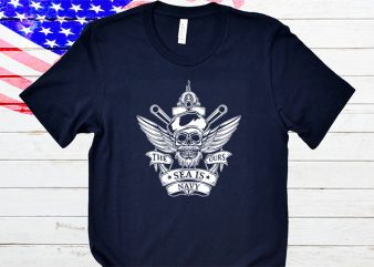 The sea is our navy t-shirt design
