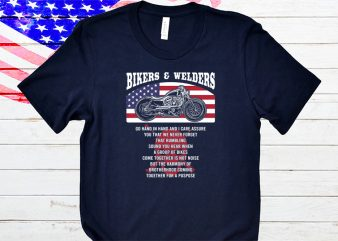 Welders and Bikers t-shirt design