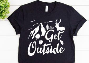 Get outside svg design for adventure tshirt