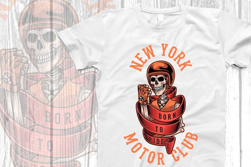 New york motor t-shirt design t shirt designs for print on demand