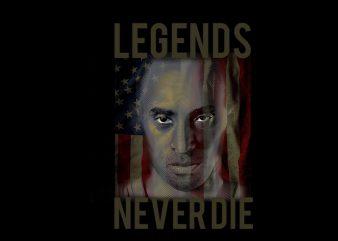 legends never die t-shirt design for sale