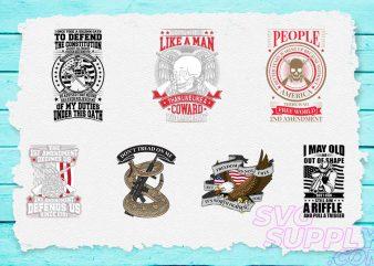 2nd Amendment T-shirt Design Bundle