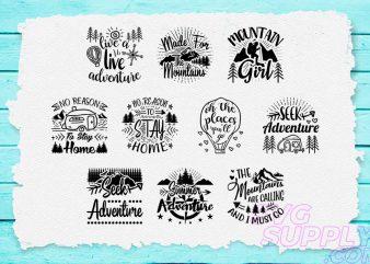 Adventure T-shirt Design Bundle