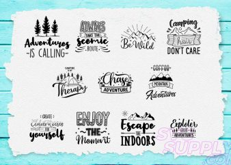 Adventure Quotes T-shirt Design Bundle