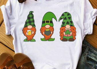 Chillin With My Gnomies Svg, St Patricks Day Svg, Gnomies Clipart, Gnome Plaid Svg t shirt vector file