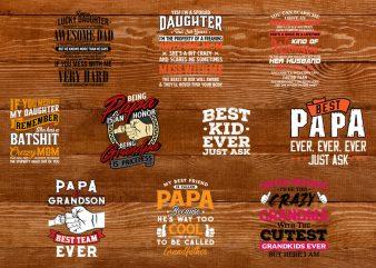 Happy Family T-shirt Design Bundle – PAPA t-shirt designs