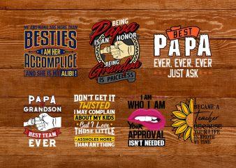 Family T-shirt Design Bundle – PAPA t-shirt designs