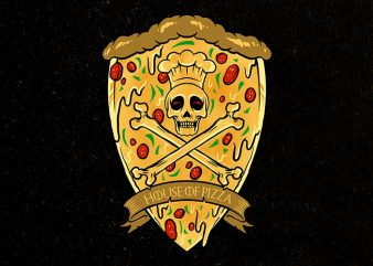 house of pizza graphic t shirt