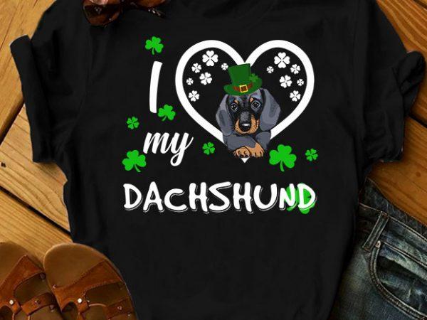 39 dog breeds – I love my dog print ready t shirt design