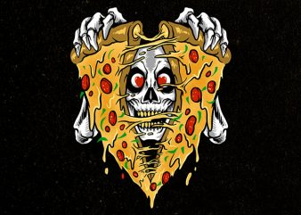 pizza boo t shirt illustration