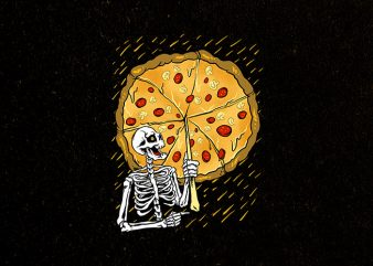 pizza before rain t-shirt design for commercial use