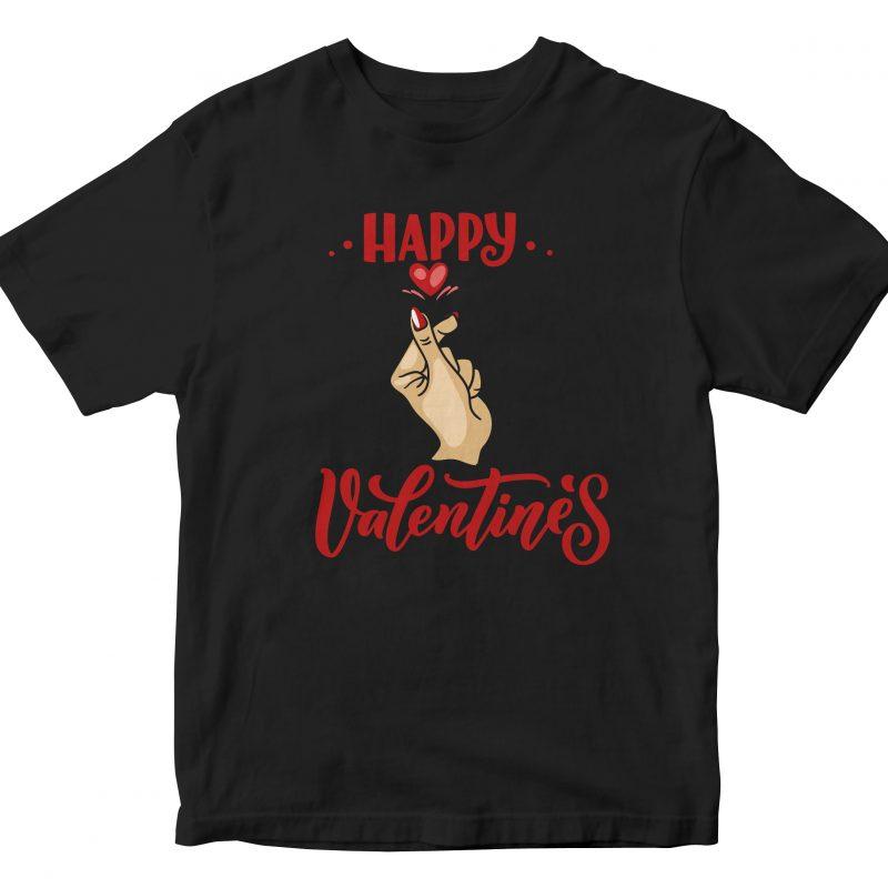Happy Valentine Day graphic t-shirt design