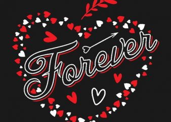 Forever Together love couple design t shirt vector template 1