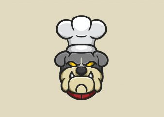 Bulldog Chef t shirt template