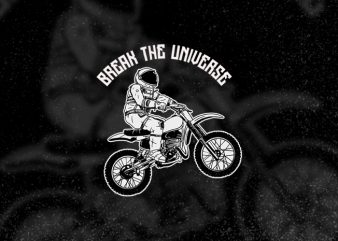 Astronaut Bikers (replacable text) print ready shirt design
