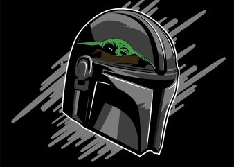baby yoda new helmet the mandalorian t shirt template