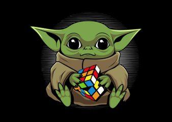 Baby Yoda Rubicks t shirt template