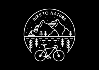 Bike to Nature t shirt template