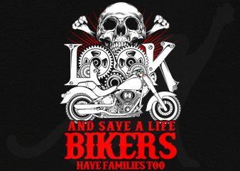Biker look t shirt template