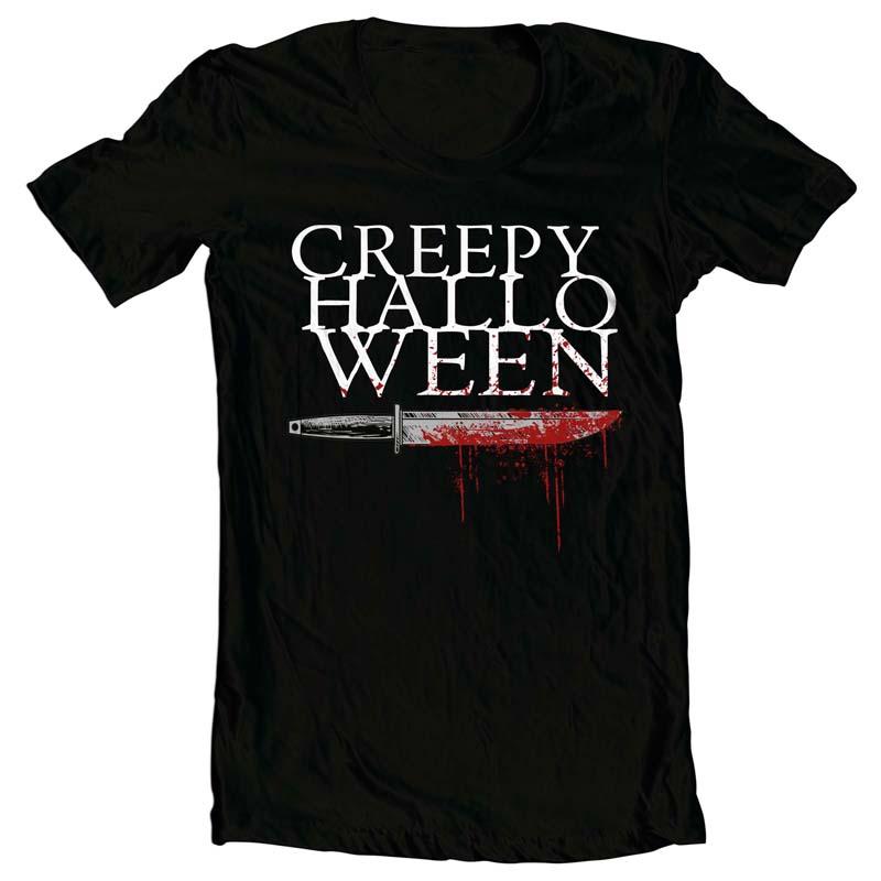 Creepy Halloween vector t shirt design