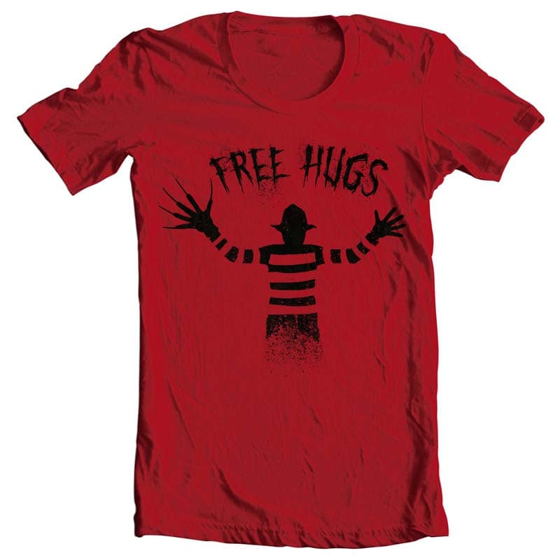 Free Hugs Freddy Krueger tshirt design for merch by amazon