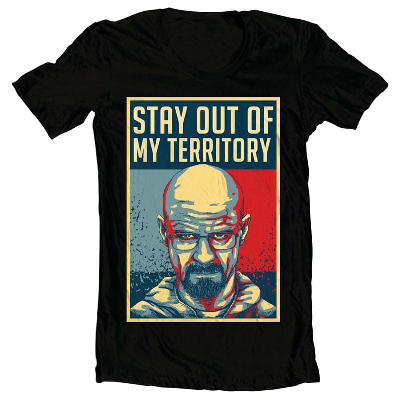 Stay Out t shirt designs for printify