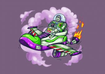 Buzz Lightyear and Sneakersplane t shirt template