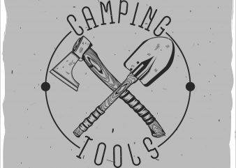 Camping tools vector t shirt design artwork