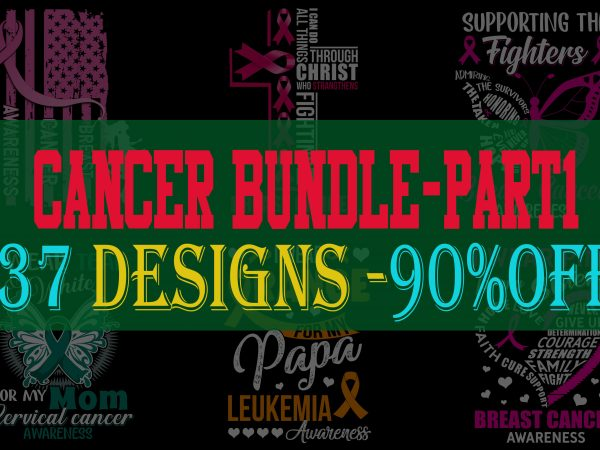 SPECIAL CANCER AWARENESS PART 1- 37 EDITABLE DESIGNS – 90% OFF – PSD and PNG – LIMITED TIME ONLY!
