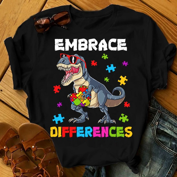 SPECIAL AUTISM AWARENESS PART 2- 50 EDITABLE DESIGNS – 90% OFF – PSD and PNG – LIMITED TIME ONLY! t shirt design for teespring