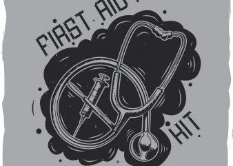 First aid kit T-shirt design