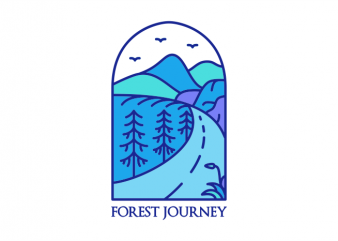 Forest Journey t shirt graphic design