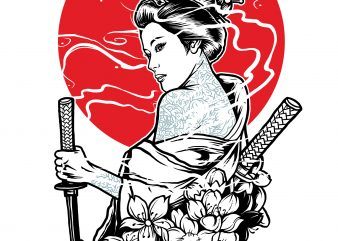 Geisha tshirt design for sale